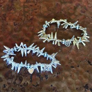 Two Bracelets. Silver & Gold. Trendy & stylish!